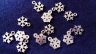 20/30/ 50 Antique Silver Shiny Tibetan Snowflake Charms Pendants 15mm x11mm
