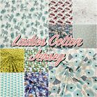 LADIES JERSEY Patterned Cotton Stretch Knit T-shirt Dress Dressmaking Fabric