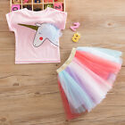 Toddle Baby Girls Unicorn Party Dress Princess Costume Tulle Tutu Dress Outfit