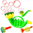 Horn shape Blowing Soap Bubble Machine Blower Outdoor Kids Creative Water Toys