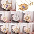 Harry Potter Time Turner Necklace Rotate Spin Hermione Granger Hourglass Jewelry