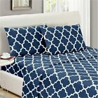 Mellanni 1800 Collection Designer Bed Sheet Set - Wrinkle, F