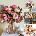 13 Heads Artificial Flowers Peony Bouquet Silk Peony Wedding Belle Party Décor