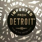 Sticker - Imported From Detroit Circle - Black Chrome