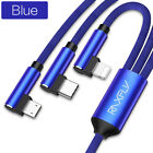 3 in 1 USB Type C Micro Data Sync Fast Charging Cable Charger For iPhone 11 Pro