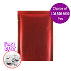 2.25x3.5in Matte Red Thick Rice Paper Mylar Open Top Pouch Bag w/ Desiccant