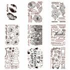 Внешний вид - Flowers Holiday Stamps Transparent Clear Silicone Stamp/Seal Scrapbooking Album