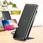Qi Wireless Fast Charger Charging Pad Dock Stand For Galaxy S9 Note 8/9 iPhone X
