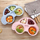 One Piece Plastic Baby Placemat Plate Dish Food Tray Kids Toddler Car Shape Mat