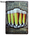 Cheeers And Drinking Wine Beer Metal Signs Pub Bar Club Home Wall Poster