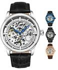 Stuhrling 3933 Men's Skeleton Automatic Self Wind Luxury Leather Dress Watch  image