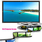 99B8 1AC9 16:9 Prohector Curtain Projection Screen Foldable Movies Portable