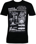 Star Wars Men's Black Ships & Fighters Short Sleeve Graphic T-Shirt $12.99 USD on eBay