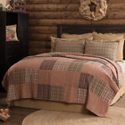 CLEMENT QUILT SET-choose size & accessories- Rustic Patch Block Red VHC Brands image