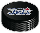 Winnipeg Jets Slogan NHL Logo Hockey Puck Car Bumper Sticker  -9'',12'' or 14'' $13.99 USD on eBay