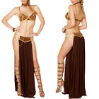 Women Princess Leia Slave Fancy Bra Top Dress Star Wars Lingerie Cosplay Costume $15.19 USD on eBay