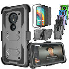For Motorola Moto G6 Play/Moto G6 Forge Clip Holster Case Cover+Screen Protector