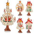 3d Xmas Tree Pendants Hanging Wooden Christmas Decoration Home Party Decor~~~