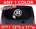 "WASHINGTON REDSKINS ""R"" Logo LARGE DECAL STICKER 12""h x 11""w  Any 1 Color on eBay"