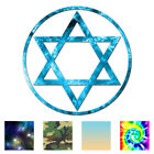 Jewish Star Of David - Vinyl Decal Sticker - Multiple Patterns & Sizes - Ebn659