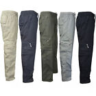 Military Men's Elastic Waist Cotton Cargo Pants Combat Camo Army Style Trousers
