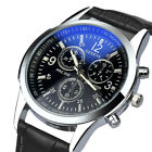 Men Watches Military Men's Faux Leather Quartz Business Wrist Watch Gift New