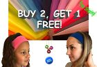 Women Men Kids Sport Sweat Sweatband Headband Yoga Gym Hairb