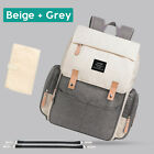 Large LAND Mommy Baby Diaper Bag Backpack with Stroller Hook and Changing Pad