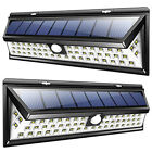 2PACK Wall Lights Solar 54 LED, Super Bright Wide Angle Powe