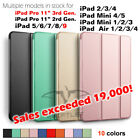 Lightweight Shockproof Smart Cover Case for iPad 8 7 6 5 4 3