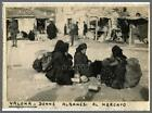 ALBANIA  ITALY  VALONA   ALBANESI AL MERCATO,  ORIGINAL PHOTO ON THIN PAPER