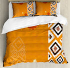 Tribal Duvet Cover Set with Pillow Shams Ethnic African D...
