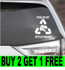 Fueled By Recycled Dinosaurs Funny Vinyl Decal Sticker T-rex Jdm Jurassic Park