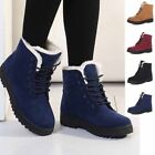 Women's With Velvet Ankle Martin Boots Winter Warm High Top