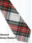Tartan Tie Clan Stewart Dress Scottish Wool Plaid