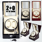 Wooden Luxury Automatic Single Watch Winder Single Motor 2+0 Display Case Box AU