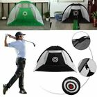 Golf Practice Training Mat Aid Driver Irons Driving Hit Net Cage with Carry Bag