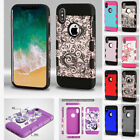 for Apple iPhone XS X TUFF Trooper Slim Hybrid Shockproof Case Cover+PryTool