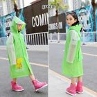 Kid Cartoon Raincoats Foldable Rainwear Hooded Waterproof Thicken Ultralight New