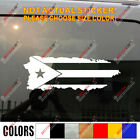 Flag Map of Puerto Rico PR Decal Sticker Car Vinyl pick size color no bkgrd