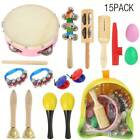 22X Wooden Kids Music Instruments Kit Toys Set Children Toddlers Percussion Doll