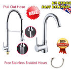 NEW Pull Out Hose Spray Modern Mono Kitchen Mixer Tap Single Lever Chrome Brass