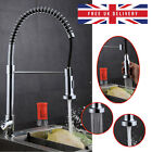 360 Degree Kitchen Swivel Tap Chrome Faucet Mixer Pull Out Hose Dual Spray Brass