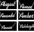 Steel Personalised Name Necklace Up To 11 Letters Birthday / Xmas Gift Jewellery