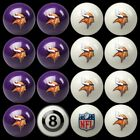 NFL Billiard Ball Set - The Ultimate Minnesota Vikings Fan Pool Table Ball Set $387.62 USD on eBay