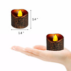 12Pcs Electric Set Candle Light Flameless LED Yellow Flicker Tea Lamp Christmas