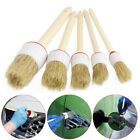 1pc Soft Wood Handle Paint Car Wash Brush Cleaning Supply For Auto Seat Wheel