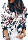 ECOWISH Women's Casual Floral Zip Up Inspired Bomber Jacket