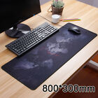 Large Mouse Pad World Map Office Gaming Computer Laptop Table Super Locking Edge