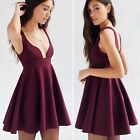 NWT Urban Outfiters Babydoll Dress Flare ALICE & UO Women Burgundy Size Large